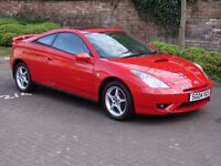 EXCELLENT EXAMPLE!!! RED 2004 TOYOTA CELICA 1.8 VVT-I 140 3 DR, 1 YEAR MOT, WARRANTY