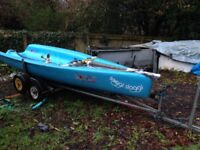 Topper Topaz Dinghy with Road Trailer and Trolley