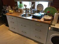 Ikea kitchen 3 units oak work top