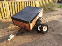 Trailer. Wooden sided with all weather cover