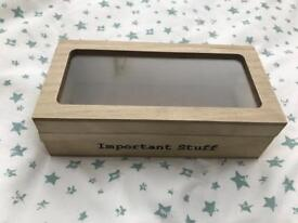 C wooden box for important stuff
