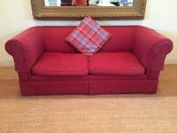 Sofa Bed - Laura Ashley in burgundy fabric