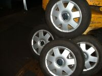 4, VW polo ally wheels and good tyres