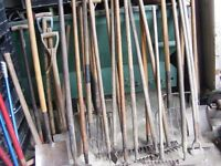 forks and other gardening tools for sale
