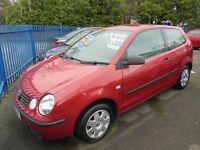 VW POLO 1896cc SDI TWIST DIESEL 3 DOOR HATCH 2004-54, RED,