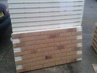 22 BRICK-TILE-PANELS and 15 CORNER NF687 colour Yellow, Red and Black Flamed