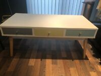 Retro / Mid-Century Style Coffee Table with Drawers