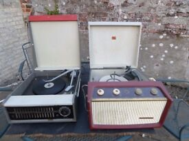 HMV + Philips vintage, valve record players for restoration. Fair cases and seem complete