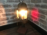 Genuine Vintage Carriage Lantern Lamp