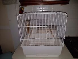 White medium-sized bird cage