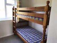 Double Wooden Bunk Beds
