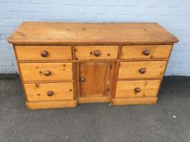 Antique pine sideboard (delivery available)