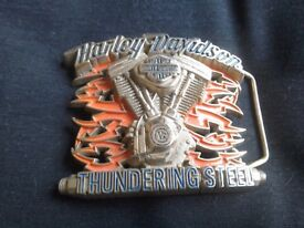 Harley Davidson Solid Brass Belt Buckle