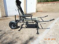KORUM DELUX FISHING CHAIR WITH BARROW KIT