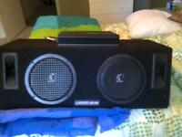 Two 10' Subs in box & 760w Pioneer Amp