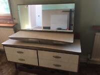 VINTAGE STYLISH 4 DRAWER DRESSING TABLE (WITH JEWELLERY DRAWER)