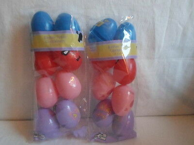 Lot of 16 Decorative Bright Plastic Easter Eggs