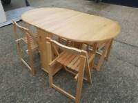 Deech Dropside table x 4 chairs + Delivery