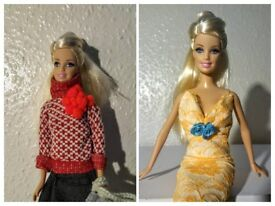 Made over Barbie doll w/ 2 unique handmade outfits and accessories