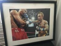 Signed and framed Carl frampton boxing picture