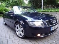 Audi A4 2.5 Tdi Sport Auto + Paddle Shift 54-Plate Convertible 106k Full Vosa History P/x Welcome