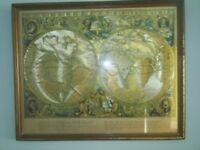 Old World Framed Map