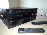 SONY MDS-JE480 MINI DISC RECORDER PLAYER X2