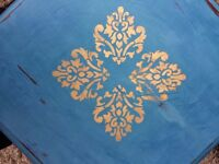 Shabby chic hand painted coffee table