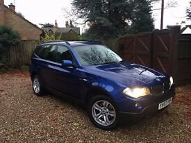 2007 57 BMW X3 2.0 20d SE 5dr.. DIESEL!! DRIVES BEAUTIFULLY!! LONG MOT!! GREAT VALUE FAMILY CAR!!