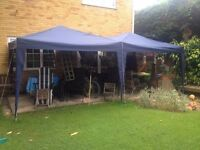 Pop-out gazebo - Damaged - Double-bay rectangular with detachable sides