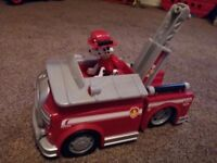 Paw Patrol Marsall Fire Truck and figure