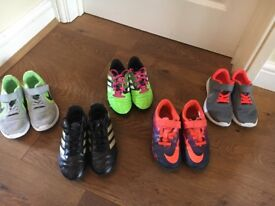 Boys football boots and trainers size 12