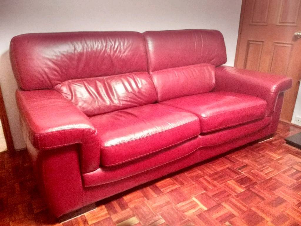 Two genuine leather sofas | in Yeovil, Somerset | Gumtree