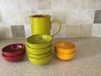 Jug and dishes
