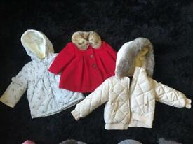 Baby girl and toddler Jackets + snowsuits