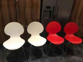 John Lewis curve dining chairs x 4