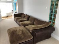 Sofa , leather and material quality piece of furniture