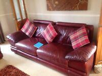 dark burgundy leather sofas