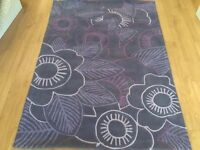 Handtufted Rug (charcoal and Purples)