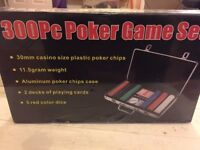 300 piece poker set, never opened