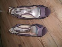 L.ADIES NEXT SHOES, SIZE 8. worn once for a wedding