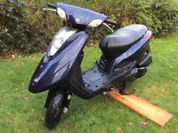 2010 BLUE YAMAHA VITY XC 125cc....12 MONTHS MOT