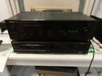 Denon Stereo powerful Amplifier and Technic Cd player R-Control Manuals mint