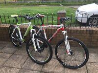 two whistle mountain bikes.