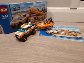 LEGO City Coast Guard 60012: 4x4 & Diving Boat. Full set. In good condition.