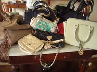 Collection of 8 handbags three new and others hardly used Michael kors, Fiorellelulu guiness