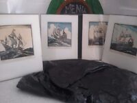 4 x limited edition C A Wilkinson prints of ships, i.e. The Mayflower etc