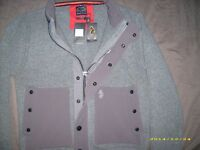 MENS LUKE 1977 KNITWEAR ZIPPED JUMPER WITH ORIGINAL TAGS SIZE L MID MARL GREY,STYLE KING,M220618