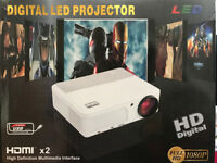 BRAND NEW,,EUG X660+,,2800-LUMENS,,Native Resolution:1280x720,HD Projector