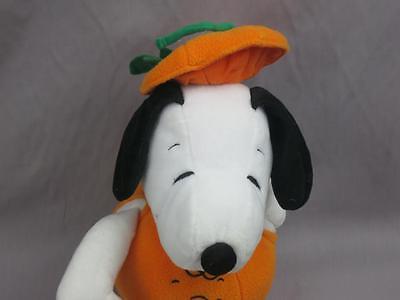 BIG HALLOWEEN SNOOPY PUPPY DOG CHARLIE BROWN PUMPKIN FACE PLUSH STUFFED  HALLMAR - Halloween Puppy Dog Face